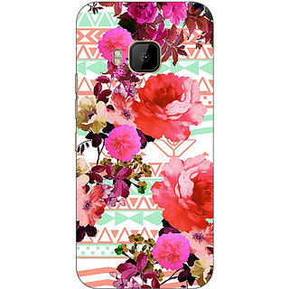 Absinthe Floral Pattern  Back Cover Case For HTC M9