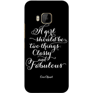 Absinthe Quote Back Cover Case For HTC M9