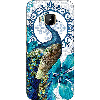 Absinthe Paisley Beautiful Peacock Back Cover Case For HTC M9