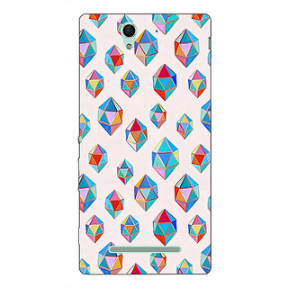 Absinthe Diamonds of Dreams Pattern Back Cover Case For Sony Xperia C3