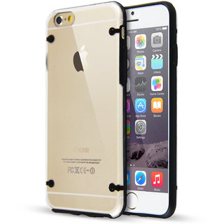 Jtechnology Back Case Cover For Apple iPhone 6/6S 4.7-Black