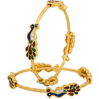 Luxor Gold Plated Multicolor Alloy Bangles For Women