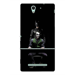 Absinthe Superheroes Batman Dark knight Back Cover Case For Sony Xperia C3