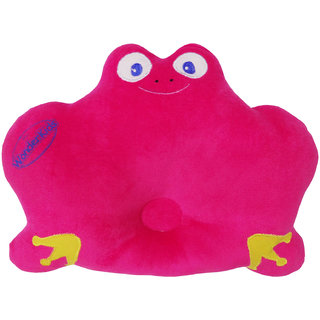 Wonderkids Frog Shape Baby Pillow Pink