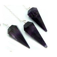 Amethyst Faceted Pendulum Healing Crystal Chakra Dowsin