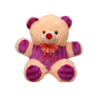 King Soft Toys Cute Raja Teddy Bear cream and purple