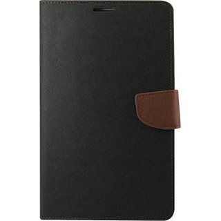 EXOIC81 Wallet Flip Cover For Samsung Galaxy Note 2 (N-7100) - BlackBrown