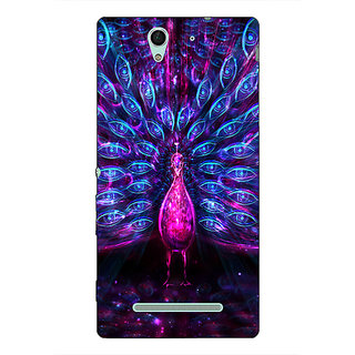 Absinthe Paisley Beautiful Peacock Back Cover Case For Sony Xperia C3