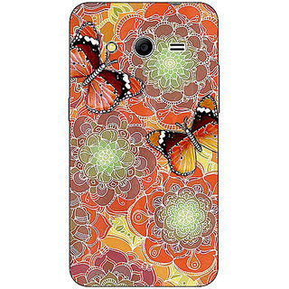 Absinthe Butterflies Pattern Back Cover Case For Samsung Core 2