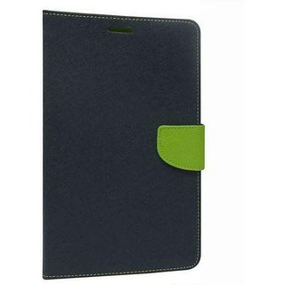 EXOIC81 Wallet Flip Cover For Samsung Galaxy Note 2 - (N-7100) - BlueGreen