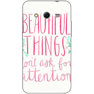 Absinthe Beautiful Quote Back Cover Case For Samsung Core 2