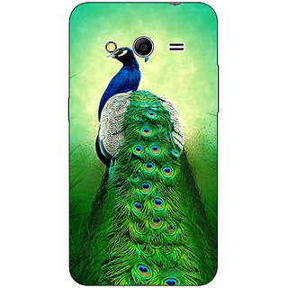 Absinthe Paisley Beautiful Peacock Back Cover Case For Samsung Core 2