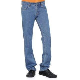 Medium Blue Color Regular fit Stretch Jeans for Men
