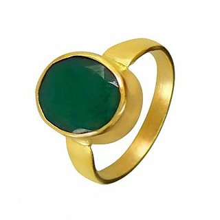 5.25 Ratti Natural Emerald panchdhatu  Ring