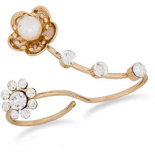 Designer Golden White Ring RG-1048