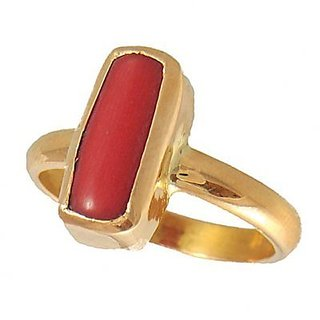 5.25 Ratti Natural Certified Coral Panchdhatu Ring