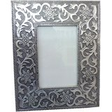 Photo Frame  : Wooden Silver Plated Photo Frame
