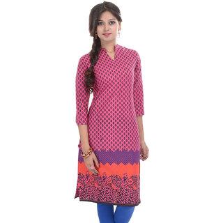 Beautiful Printed Pink Cotton Kurti from the house of Anjani