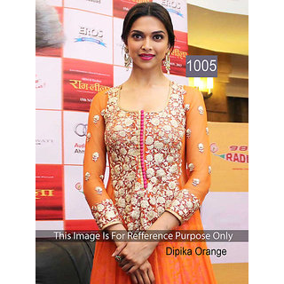 DIPIKA ORANGE COLOUR DRESS MATERIAL - 1005