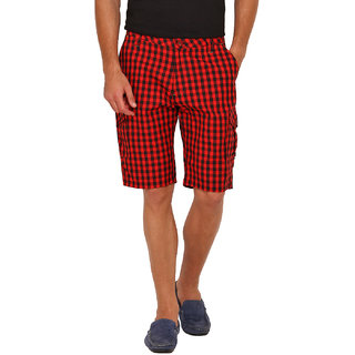 Factorydirect Men's Red Shorts