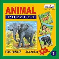 Animal Puzzle No. 1 (4 To 10 Pieces)