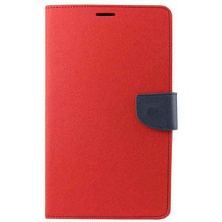 EXOIC81 Wallet Flip Cover For Samsung Galaxy Note 1 (N-7000) - RED