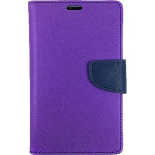 EXOIC81 Wallet Flip Cover For Samung Galaxy Note 1 (N-7000) - PURPLE