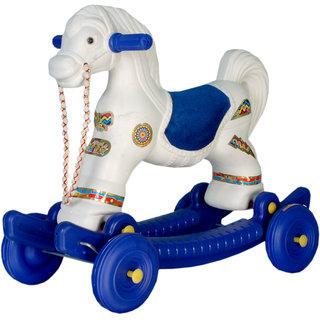 Chetak White Red Horse For Kids