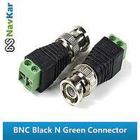 4 Pcs BNC BLACK N GREEN CONNECTOR | BNC PLUG CONNECTOR FOR CCTV DVR VIDEO CAMERA