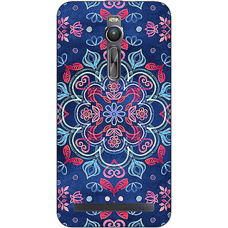 Absinthe Night Floral Pattern Back Cover Case For Asus Zenfone 2 ZE550 ML