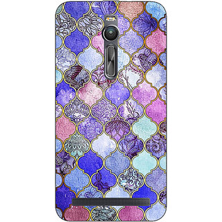 Absinthe Purple Moroccan Tiles Pattern Back Cover Case For Asus Zenfone 2 ZE550 ML