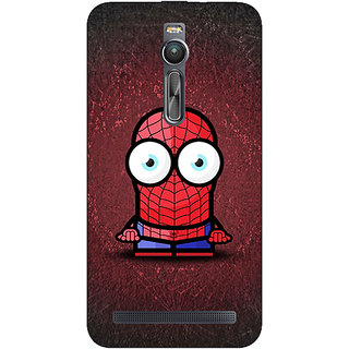 Absinthe Big Eyed Superheroes Spiderman Back Cover Case For Asus Zenfone 2 ZE550 ML