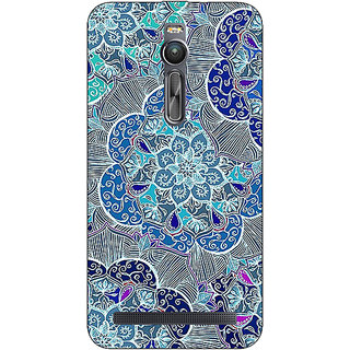 Absinthe Floral Craze Pattern Back Cover Case For Asus Zenfone 2 ZE550 ML