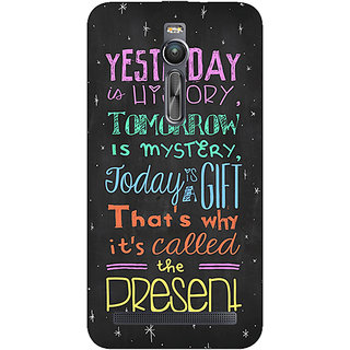 Absinthe Happiness Quote Back Cover Case For Asus Zenfone 2 ZE550 ML
