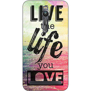 Absinthe Life Quote Back Cover Case For Asus Zenfone 2 ZE550 ML