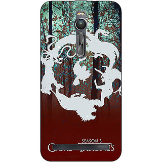 Absinthe Game Of Thrones GOT Houses Back Cover Case For Asus Zenfone 2 ZE550 ML