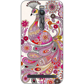 Absinthe Paisley Beautiful Peacock Back Cover Case For Asus Zenfone 2 ZE550 ML