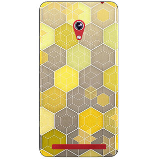 Absinthe Yellow Hexagons Pattern Back Cover Case For Asus Zenfone 6 600CG