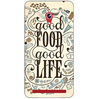 Absinthe Good Food Quote Back Cover Case For Asus Zenfone 6 600CG