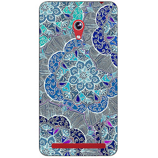 Absinthe Floral Craze Pattern Back Cover Case For Asus Zenfone 6 601CG