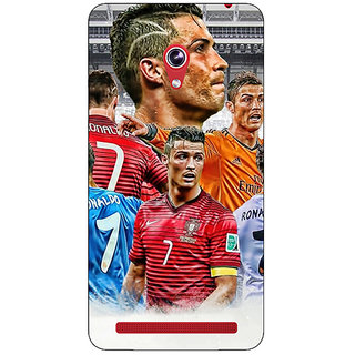 Absinthe Cristiano Ronaldo Real Madrid Back Cover Case For Asus Zenfone 6 601CG