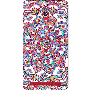 Absinthe Flower Circles Pattern Back Cover Case For Asus Zenfone 6 601CG