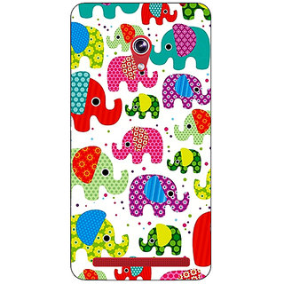 Absinthe Baby Elephant Pattern Back Cover Case For Asus Zenfone 6 601CG