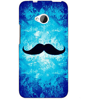 Absinthe Moustache Back Cover Case For HTC One M7
