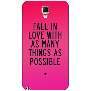 Absinthe Quotes Love Back Cover Case For Samsung Note 3 Neo