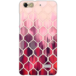Absinthe White Red Moroccan Tiles Pattern Back Cover Case For Huawei Honor 4C