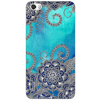 Absinthe Blue Doodle Pattern Back Cover Case For Huawei Honor 6