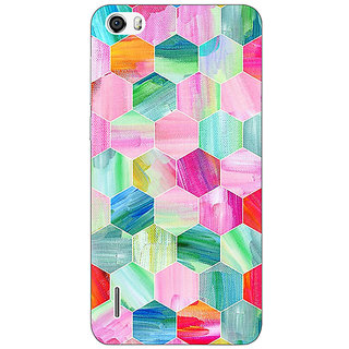 Absinthe Hexagon  Pattern Back Cover Case For Huawei Honor 6
