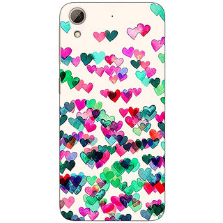 Absinthe Hearts in the Air Pattern Back Cover Case For HTC Desire 626