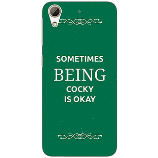 Absinthe SUITS Quotes Back Cover Case For HTC Desire 626G